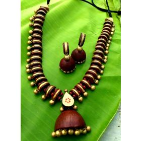 Akruti Terracotta Jewellery Set